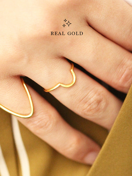 [REAL GOLD] LUNETTE Ring 16.8k Yellow Gold
