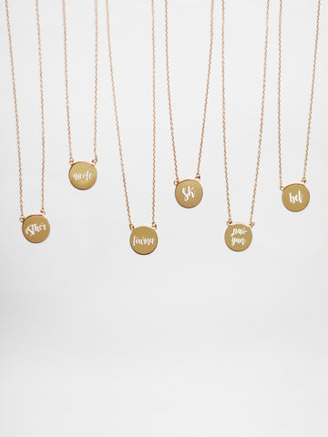 Engravable MARGAUX's Disc Necklace
