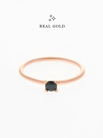 [REAL GOLD] MALEFICENT Ring 18k Rose Gold
