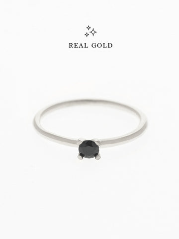 [REAL GOLD] MALEFICENT Ring 18k White Gold
