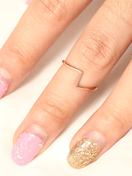 PEDESTAL Ring 14k Rose Gold Dip