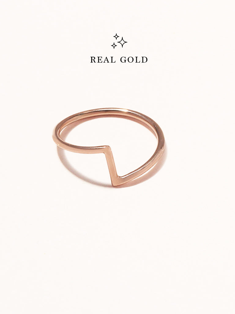 [REAL GOLD] PEDESTAL Ring 18k Rose Gold