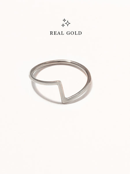 [REAL GOLD] PEDESTAL Ring 18k White Gold