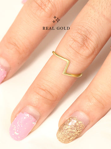 [REAL GOLD] PEDESTAL Ring 16.8k Yellow Gold