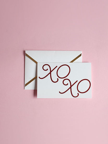 X O X O Greeting Card
