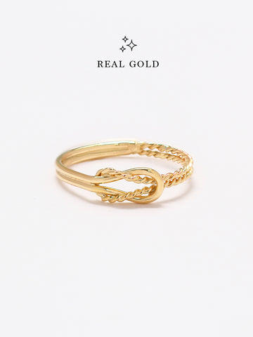 [REAL GOLD] Knotted Odyssey Ring 16.8k Yellow Gold
