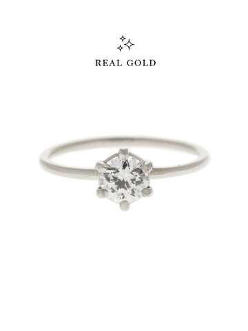 [REAL GOLD] SERAPHINA Ring (0.5cm) 18k White Gold