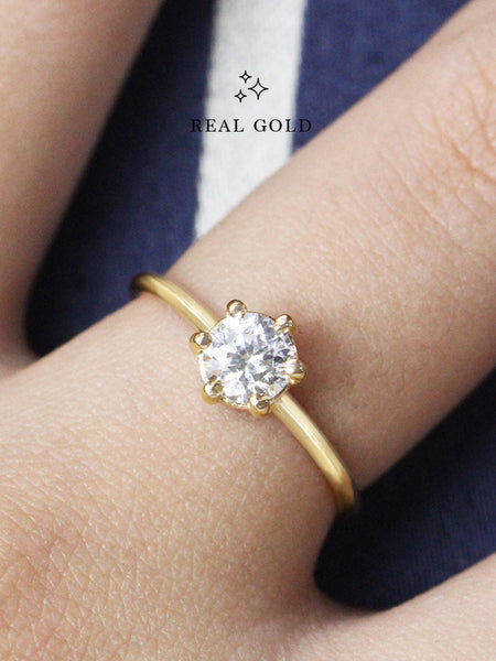 [REAL GOLD] SERAPHINA Ring (0.5cm) 16.8k Yellow Gold