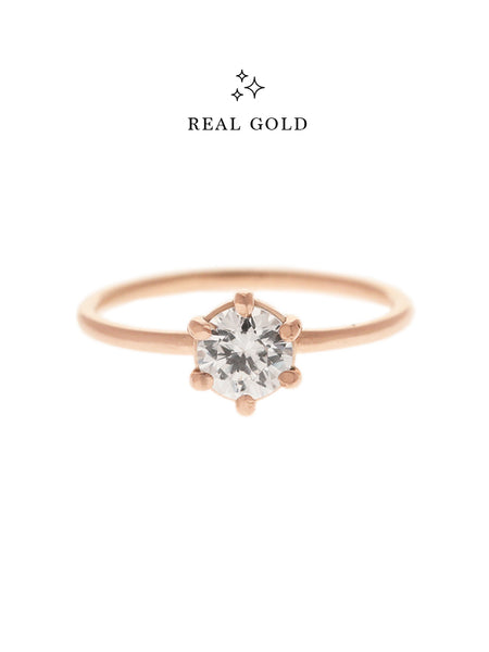 [REAL GOLD] SERAPHINA Ring (0.5cm) 18k Rose Gold
