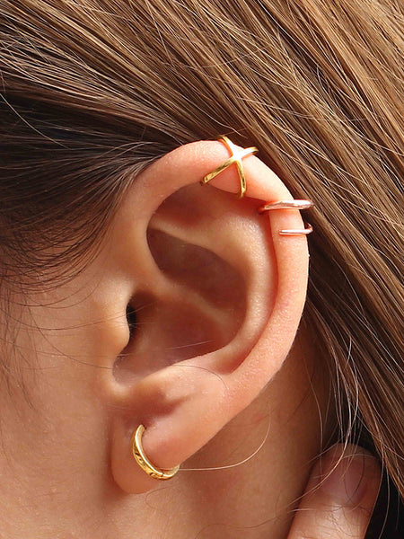 COIL Earrings 14k Rose Gold Dip