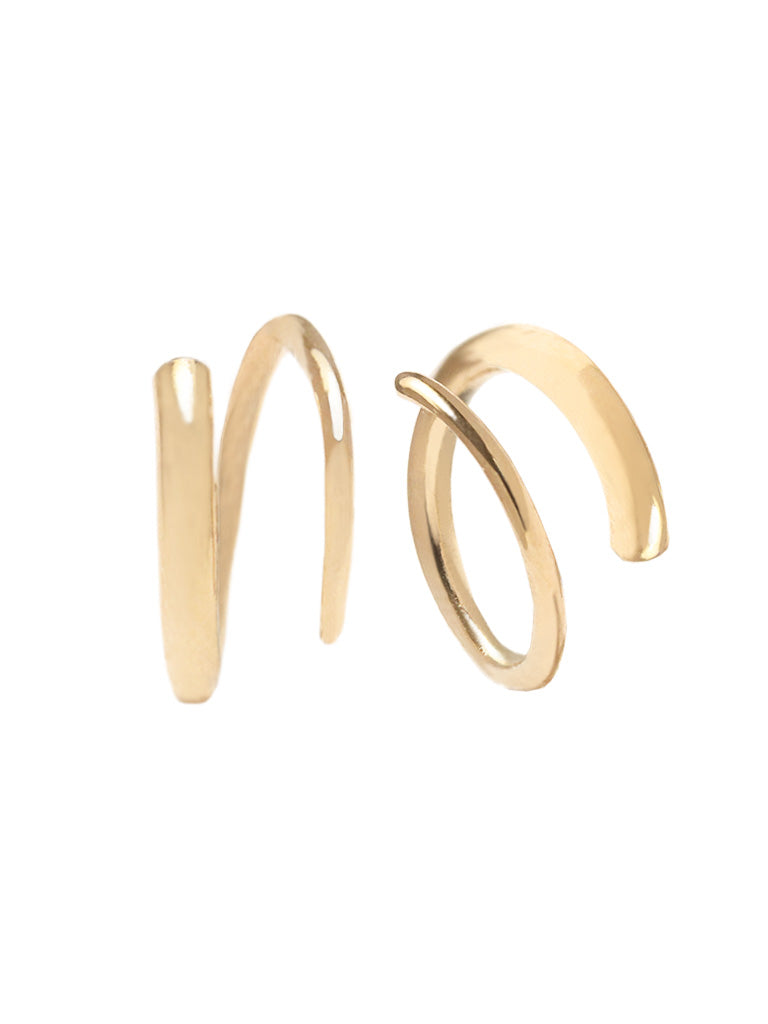 COIL Earrings 16.8k Yellow Gold Dip