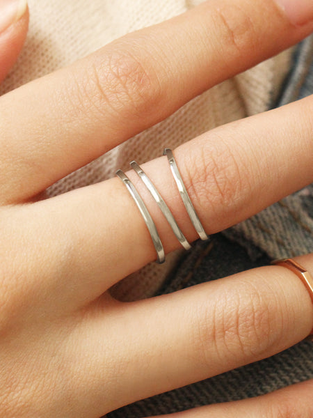 PARALLEL Ring 925 Sterling Silver
