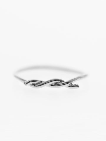 Knotted Thread Ring 925 Sterling Silver
