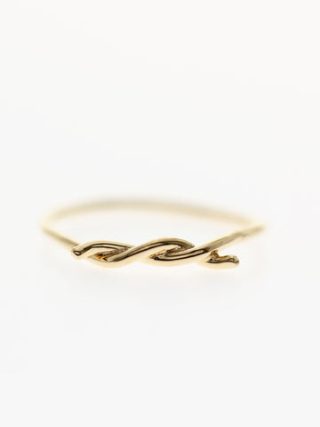 KNOTTED THREAD Ring 16.8k Yellow Gold Dip