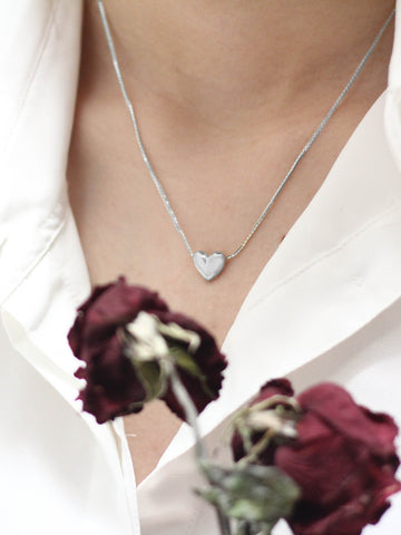 TINY HEART  Necklace in 925 Sterling Silver