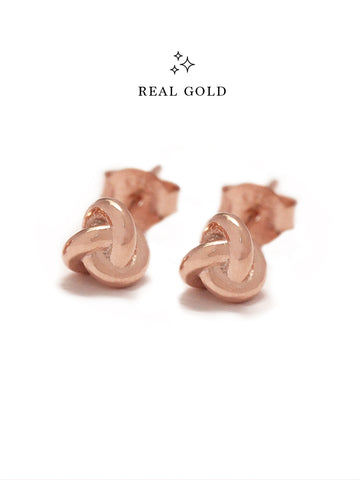 [REAL GOLD] TRINITY Ear Studs 18k Rose Gold