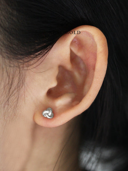 [REAL GOLD] TRINITY Ear Studs 18k White Gold