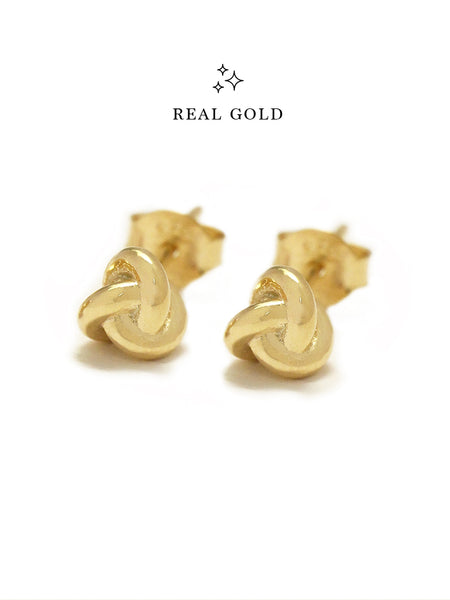 [REAL GOLD] TRINITY Ear Studs 16.8k Yellow Gold
