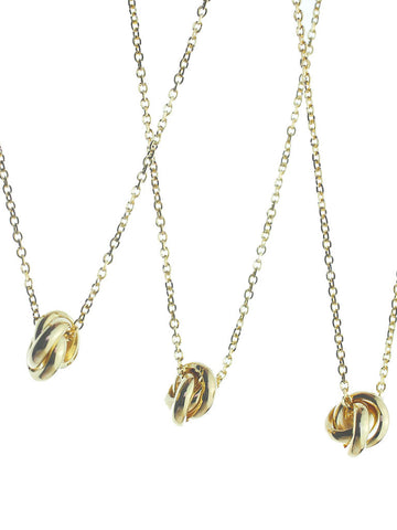 TRINITY Necklace 16.8k Yellow Gold Dip