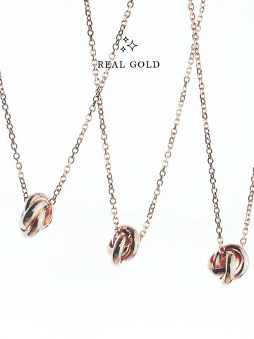 [REAL GOLD] TRINITY Necklace 16.8k Rose Gold