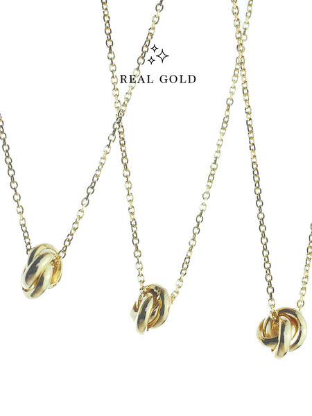 [REAL GOLD] TRINITY Necklace 16.8k Yellow Gold