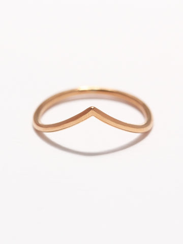 VENUS Chevron Ring 14k Rose Gold Dip