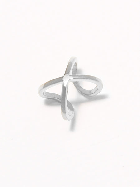 PIPER Criss Cross Ear Cuff 925 Sterling Silver & Gold Dip