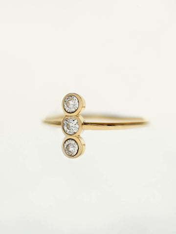 [PRE-ORDER] MOONLIGHT TRIO Zirconia Ring 16.8k Yellow Gold Dipped