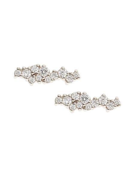 SUPERNOVA Zirconia Ear Studs 925 Sterling Silver