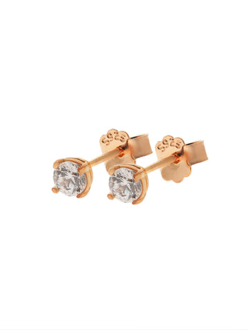 SERAPHINA Zirconia Ear Studs 0.3cm (Medium) 14k Rose Gold Dip