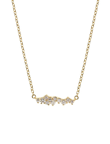 SUPERNOVA Zirconia Necklace 16.8k Yellow Gold Dip