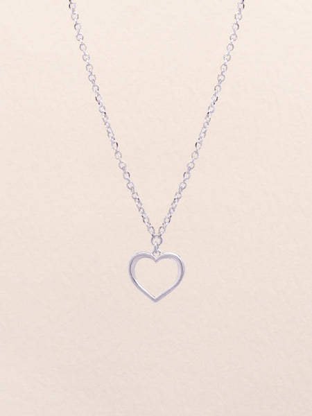 ADORE YOU Heart Necklace 925 Sterling Silver