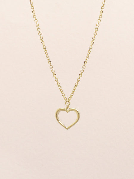 ADORE YOU Heart Necklace 16.8K Yellow Gold Dip