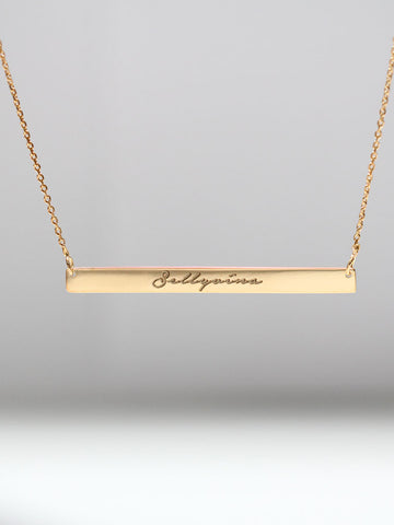 Engravable PAIGE's Bar Necklace