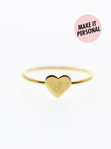 Engravable BELLA's Tiny Heart Ring