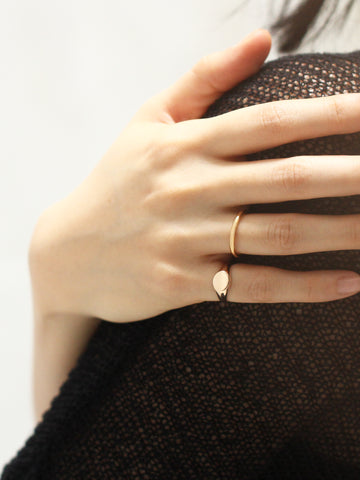 BOLD STACKER Ring 925 Sterling Silver & Gold Dip