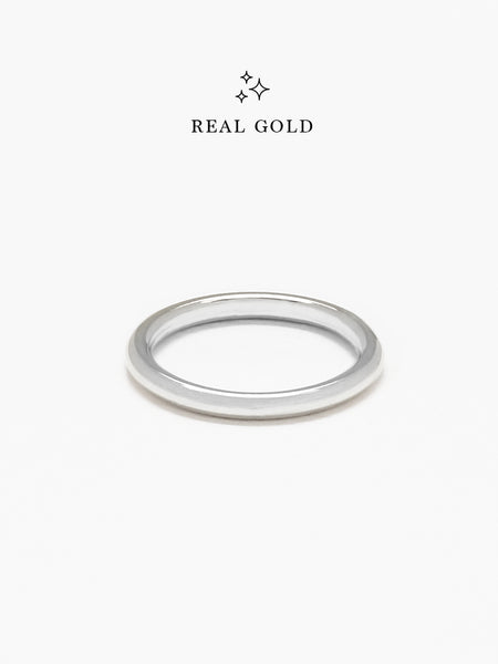 [REAL GOLD] BOLD STACKER Ring 18k White Gold