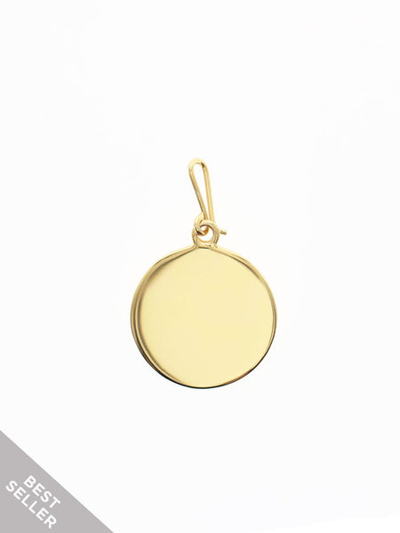 FULL CIRCLE Hook Charm 16.8k Yellow Gold Dip
