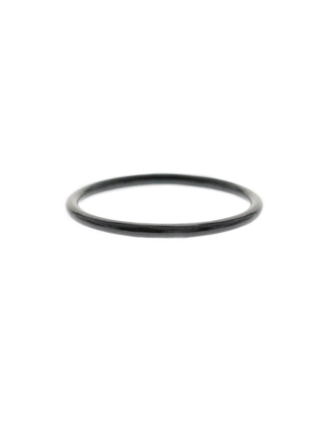CLASSIC STACKER Ring Black Ruthenium Plating