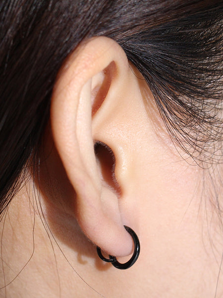 COIL Earrings Black Ruthenium Plating