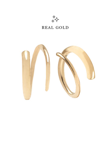 [REAL GOLD] COIL Earrings 18k Yellow Gold