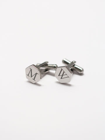 Engravable HENRY's Hexagon Cufflinks 316L Stainless Steel