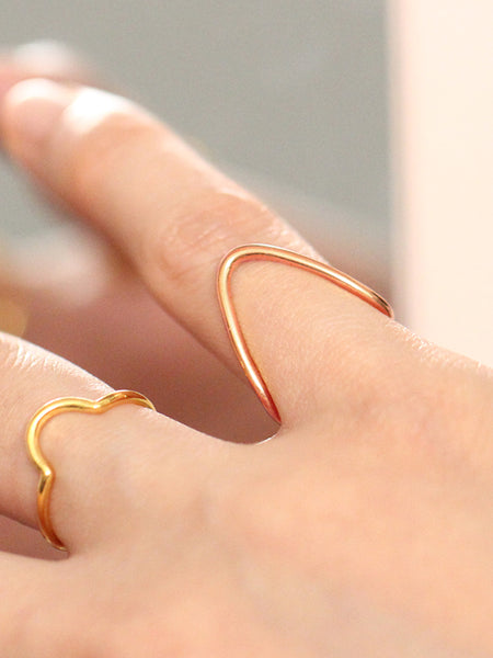 BALANCE Ring 14k Rose Gold Dip