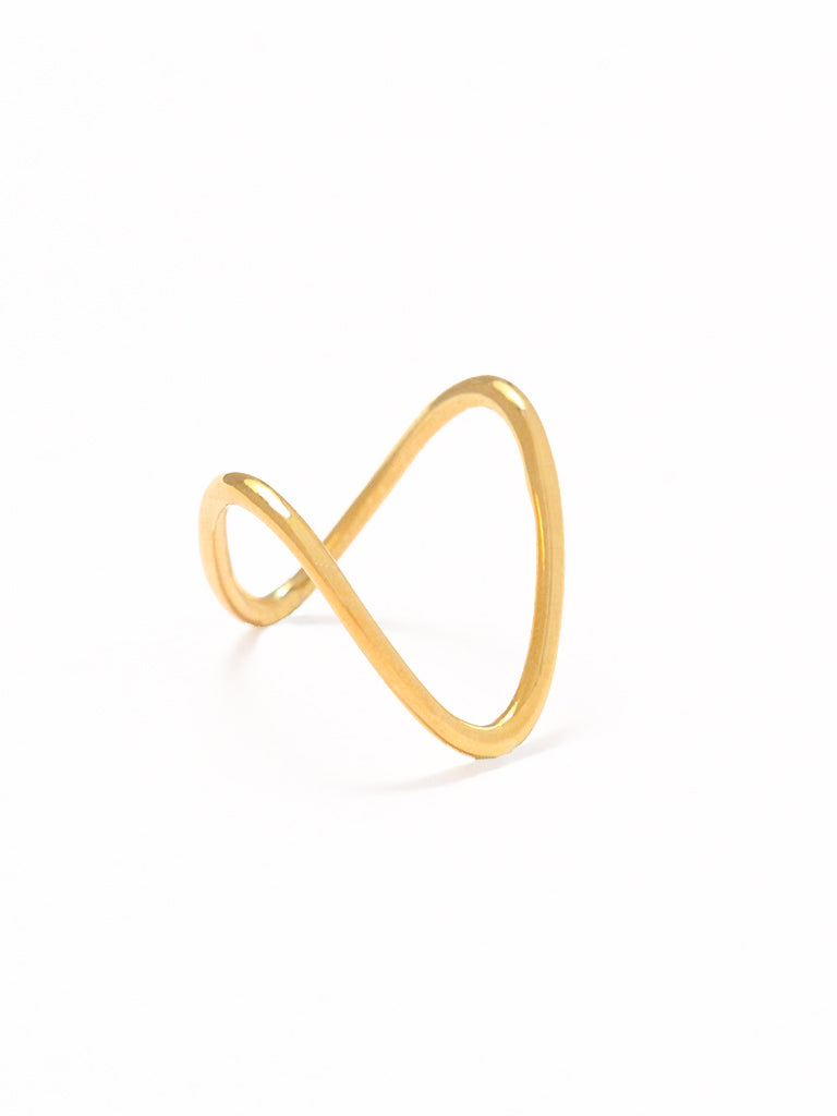 BALANCE Ring 16.8k Yellow Gold Dip