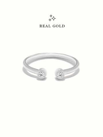 [REAL GOLD] MOONLIGHT DUO Ring 18k White Gold
