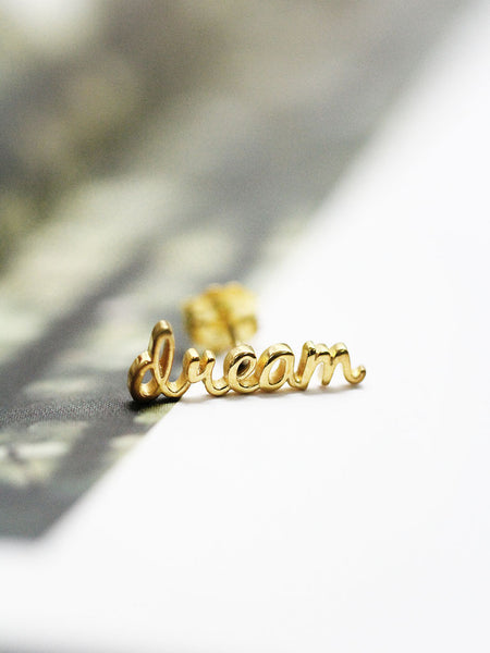 DREAM Ear Climber 16.8k Yellow Gold Dip