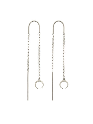 CRESCENT Threaders 925 Sterling Silver