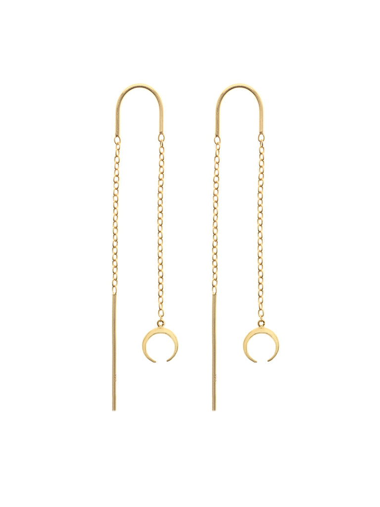 CRESCENT Threaders 16.8k Yellow Gold Dip