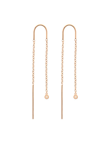 MOONLIGHT Threaders 14k Rose Gold Dip