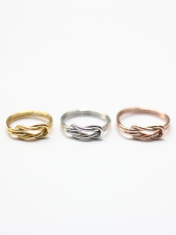 Knotted For Eternity Ring 14k Rose Gold Dip